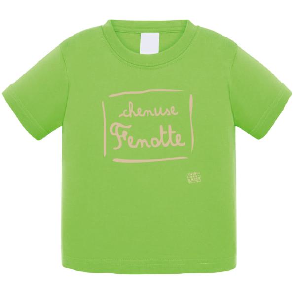 """Tshirt bébé """"Chenuse Fenotte"""" couleur vert"""