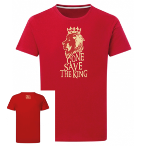 Tshirt Gone save the king couleur rouge, face