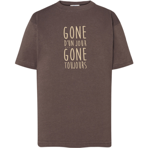 """Tshirt enfant """"gone d'un jour gone toujours"""" couleur gris plomb"""