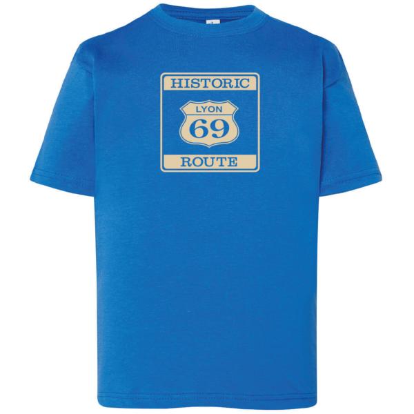 """Tshirt enfant """"Historic route 69"""" couleur bleu roi"""
