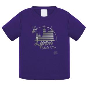 """Tshirt bébé """"lyon magic city"""" couleur violet"""