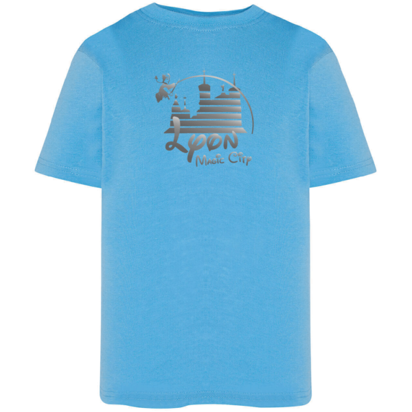 "Tshirt enfant ""lyon magic city"" couleur bleu ciel"