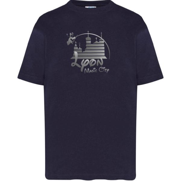 "Tshirt enfant ""lyon magic city"" couleur bleu marine"
