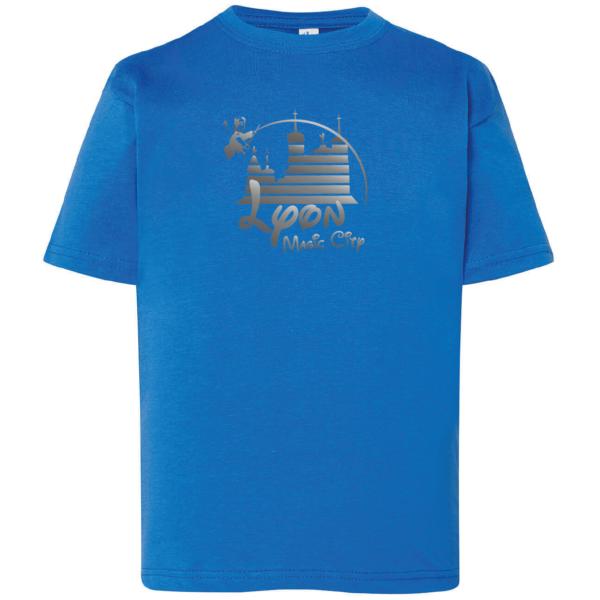 "Tshirt enfant ""lyon magic city"" couleur bleu roi"