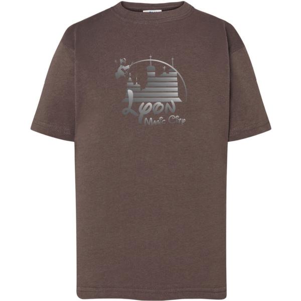 """Tshirt enfant """"lyon magic city"""" couleur gris plomb"""