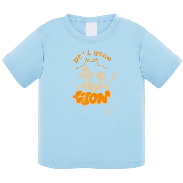 """Tshirt bébé """"petit gone"""" couleur bleu ciel"""