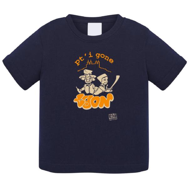 """Tshirt bébé """"petit gone"""" couleur bleu marine"""