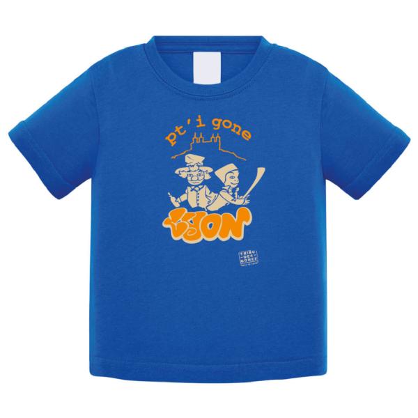 """Tshirt bébé """"petit gone"""" couleur bleu roi"""