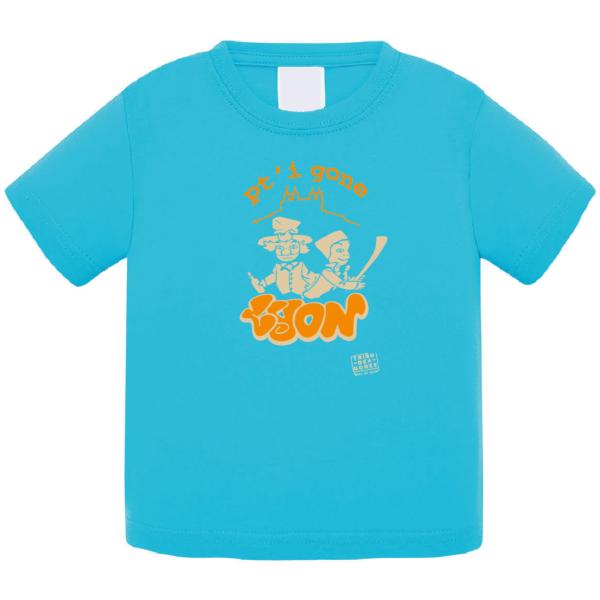 """Tshirt bébé """"petit gone"""" couleur bleu turquoise"""