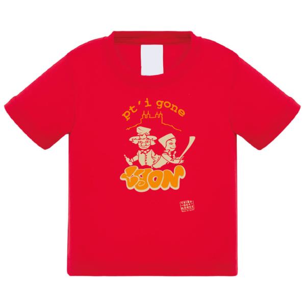 """Tshirt bébé """"petit gone"""" couleur rouge"""
