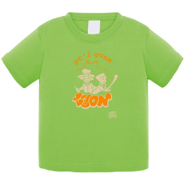 """Tshirt bébé """"petit gone"""" couleur vert"""