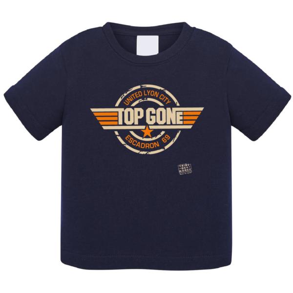 """Tshirt bébé """"top gone"""" couleur bleu marine"""