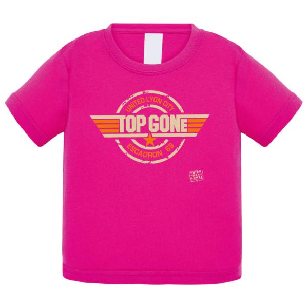 """Tshirt bébé """"top gone"""" couleur fushia"""