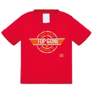 """Tshirt bébé """"top gone"""" couleur rouge"""