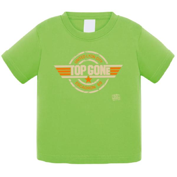 """Tshirt bébé """"top gone"""" couleur vert"""