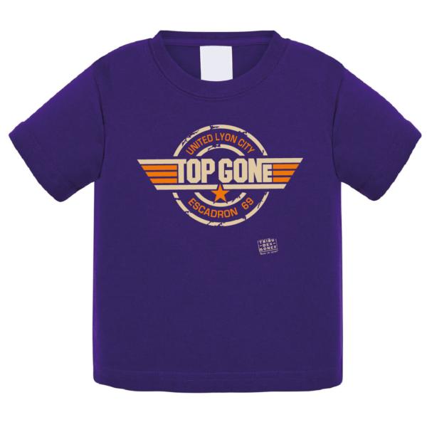 """Tshirt bébé """"top gone"""" couleur violet"""