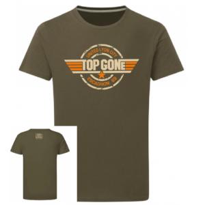 Tshirt logo top gone couleur kaki, face
