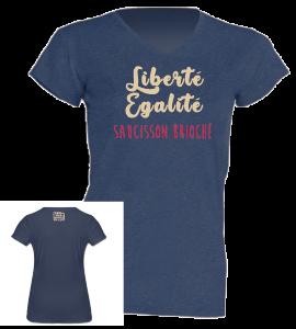 "Tshirt Femme ""saucisson brioché"" bleu jean"