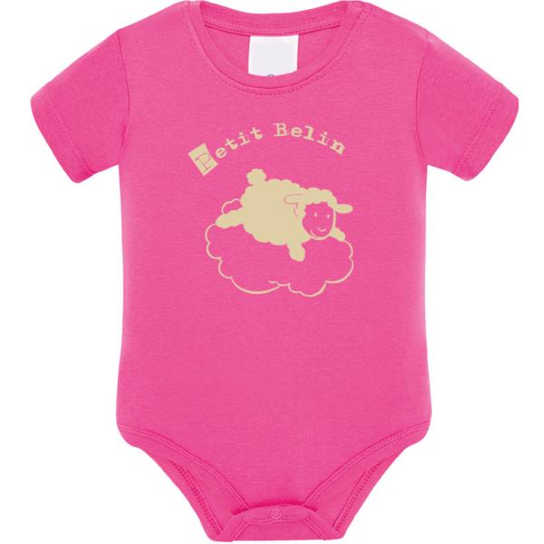 """Body bébé """"petit belin"""" couleur fushia"""