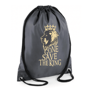 "Sac sport ""gone save the king"" couleur gris"