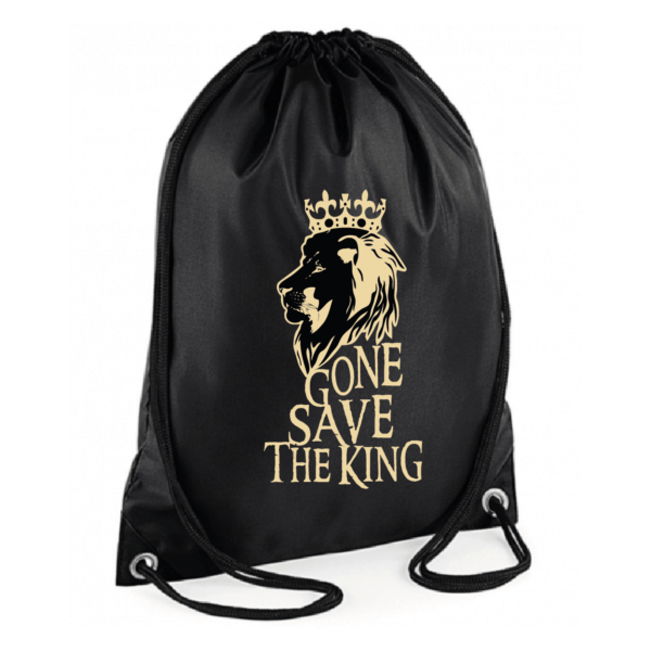 "Sac sport ""gone save the king"" couleur noir"