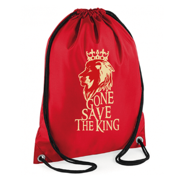 """Sac sport """"gone save the king"""" couleur rouge"""