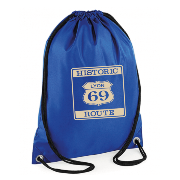 """Sac sport """"historic route 69"""" couleur bleu"""
