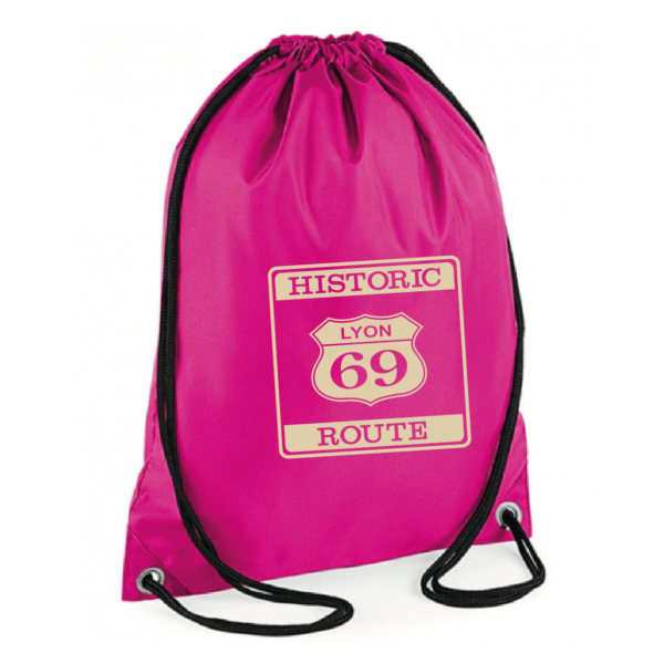 "Sac sport ""historic route 69"" couleur fushia"