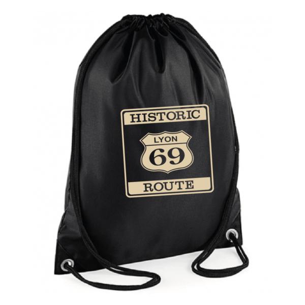 """Sac sport """"historic route 69"""" couleur noir"""