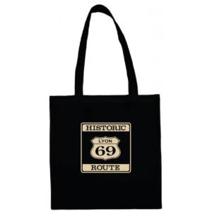 """Tote bag """"historic route 69"""" couleur noir"""