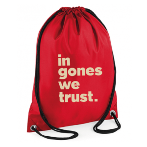 "Sac sport ""in gones we trust"" couleur rouge"
