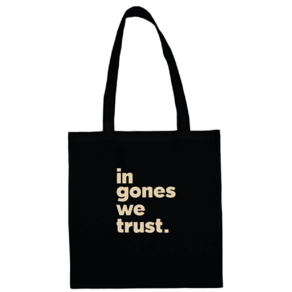 """Tote bag """"in gones we trust"""" couleur noir"""