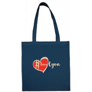 """Tote bag """"love lyon"""" couleur bleu"""