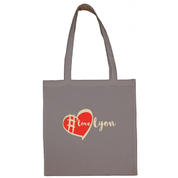 "Tote bag ""love lyon"" couleur gris"