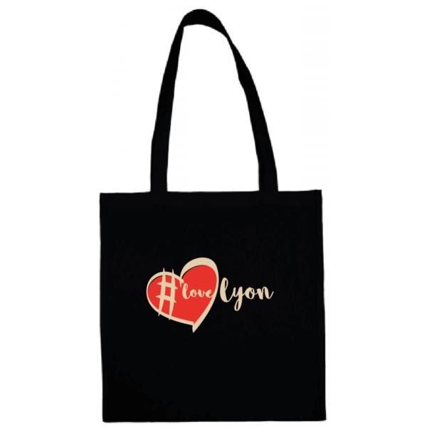 """Tote bag """"love lyon"""" couleur noir"""