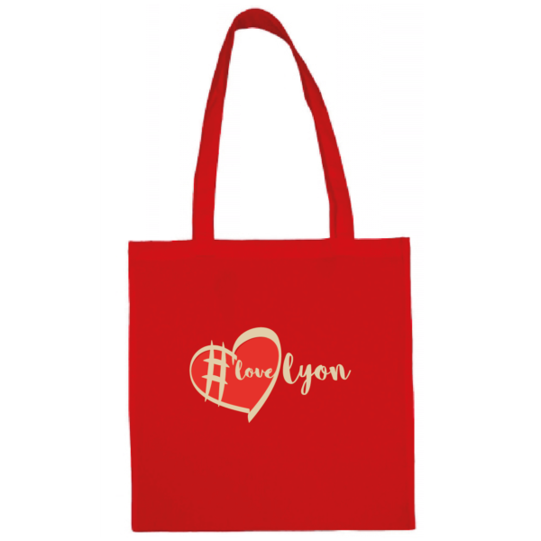 "Tote bag ""love lyon"" couleur rouge"
