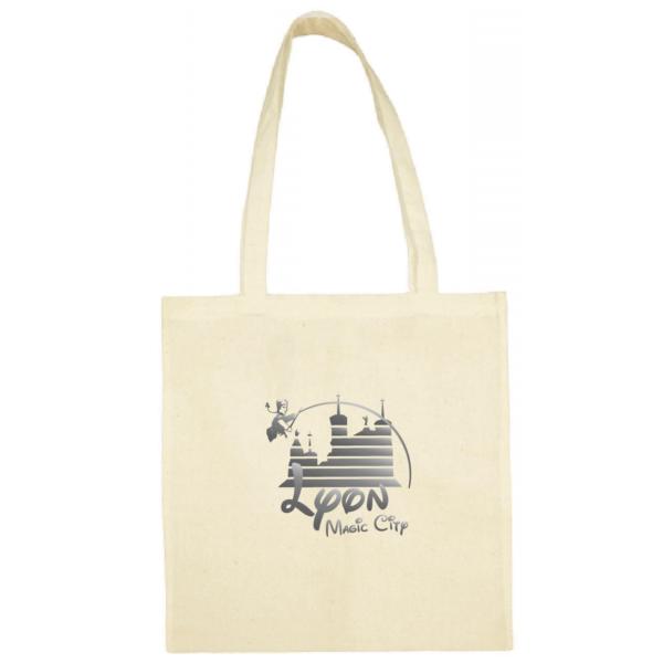 """Tote bag """"lyon magic city"""" couleur blanc"""