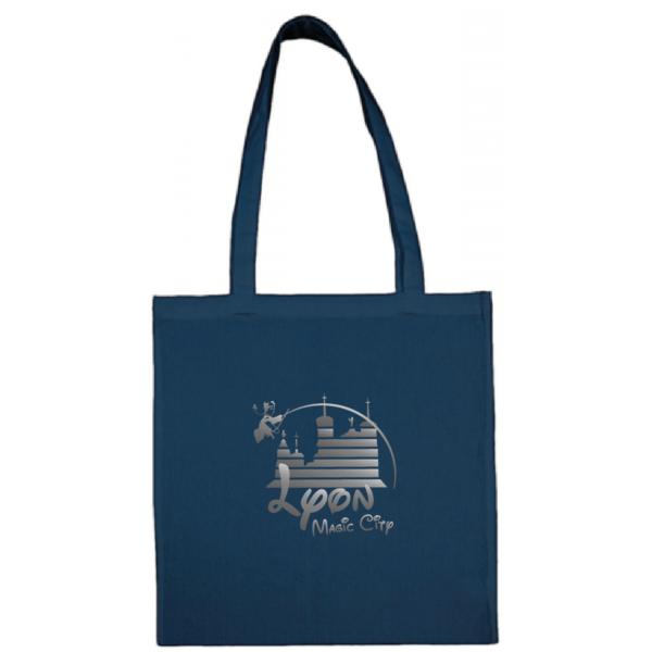 """Tote bag """"lyon magic city"""" couleur bleu"""