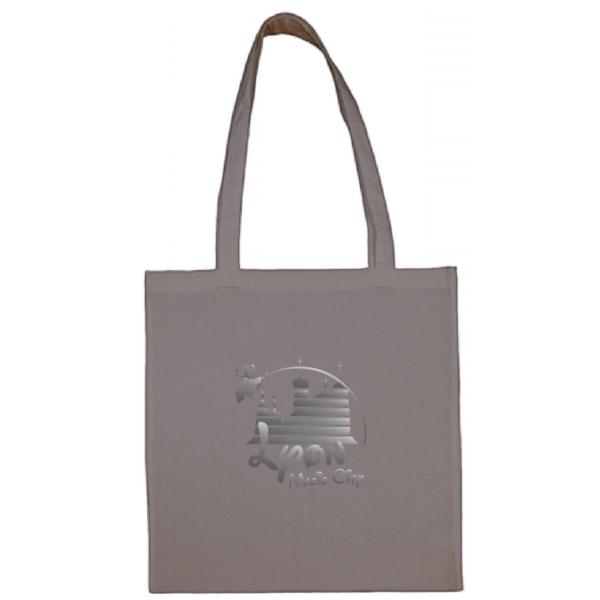 """Tote bag """"lyon magic city"""" couleur gris"""
