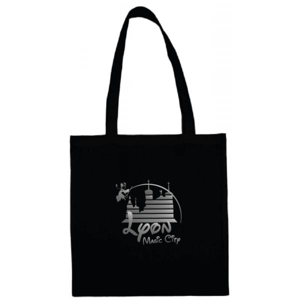 """Tote bag """"lyon magic city"""" couleur noir"""