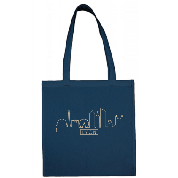 "Tote bag ""Skyline"" couleur bleu"