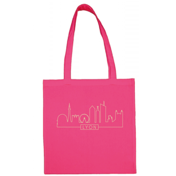 "Tote bag ""Skyline"" couleur fushia"