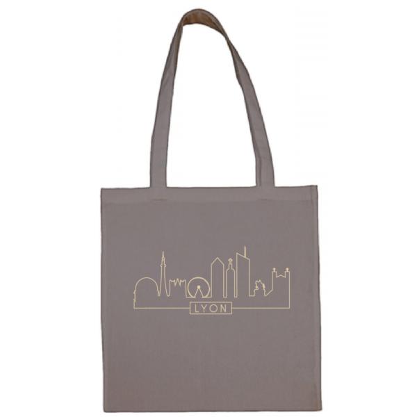 "Tote bag ""Skyline"" couleur gris"
