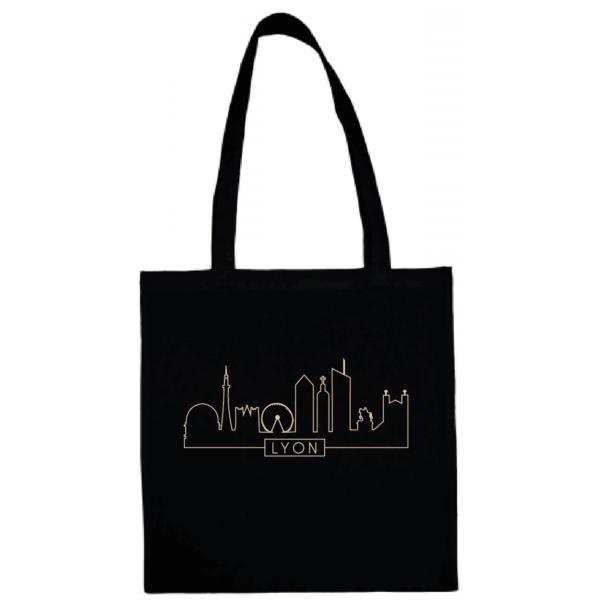 """Tote bag """"Skyline"""" couleur noir"""