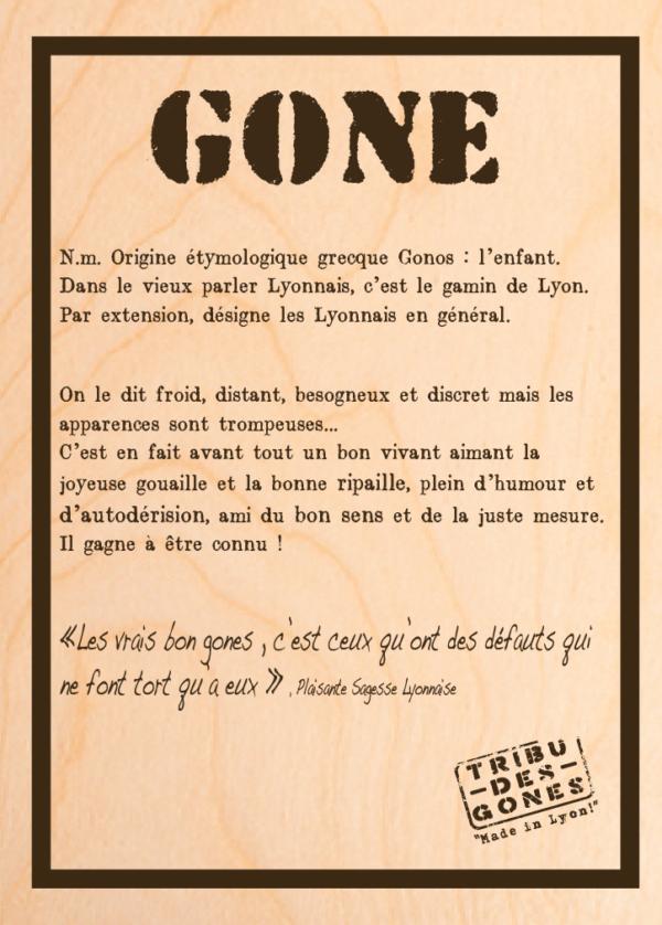 "Tableau en bois modèle ""Gone"""