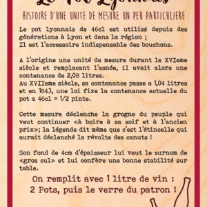 """Tableau en bois modèle """"le pot lyonnais"""""""