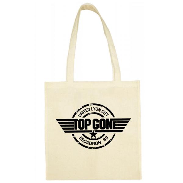 """Tote bag """"Top Gun"""" couleur blanc"""