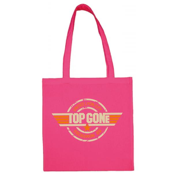 """Tote bag """"Top Gun"""" couleur fushia"""