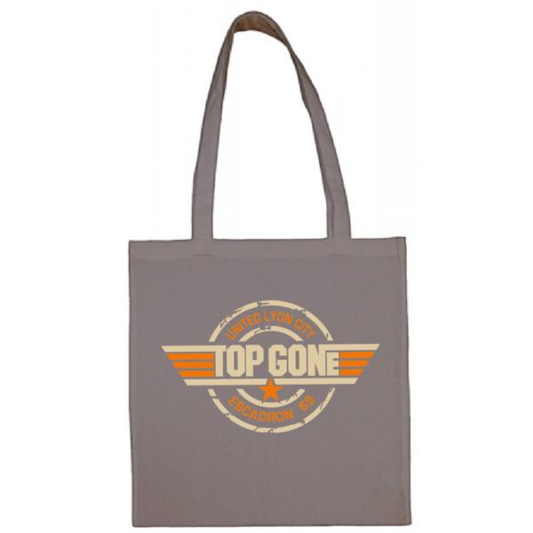 """Tote bag """"Top Gun"""" couleur gris"""