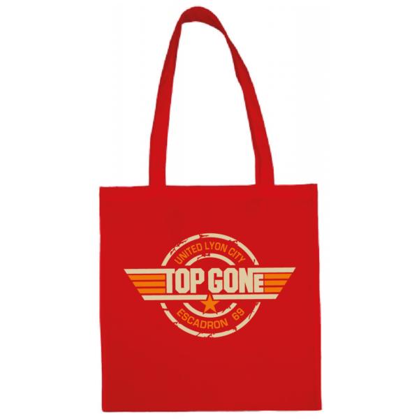 """Tote bag """"Top Gun"""" couleur rouge"""